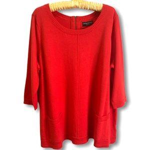 CYNTHIA ROWLEY 100% Merino Wool Tunic Sweater 2X